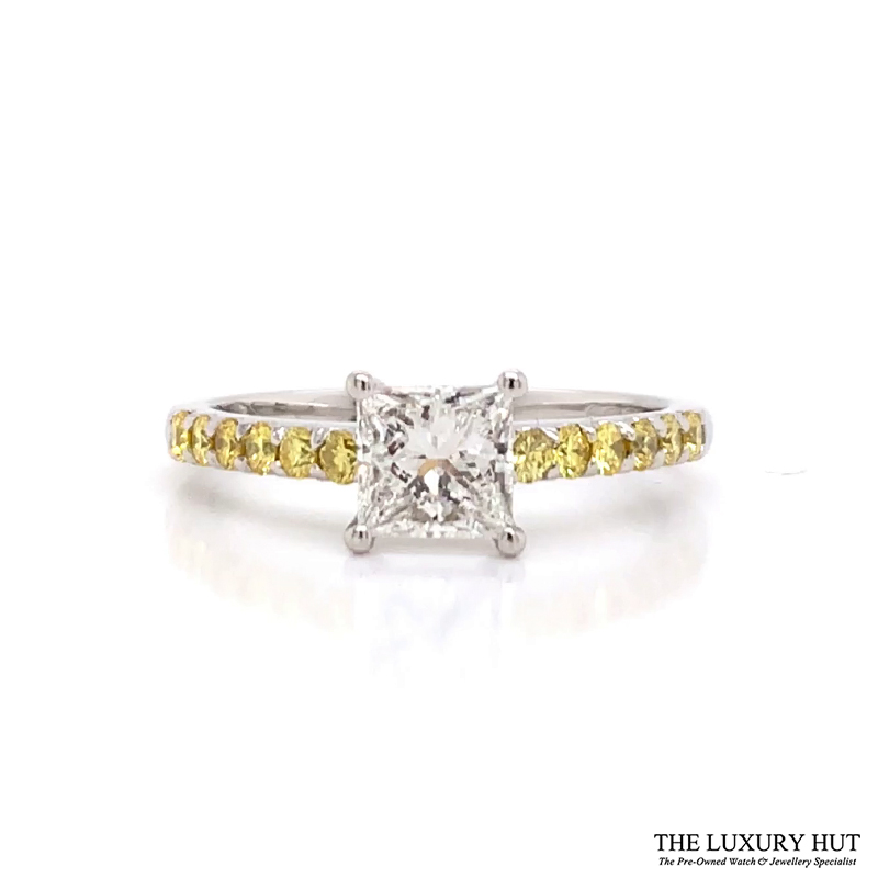 Platinum 1.00ct Princess Cut Diamond Engagement Ring - Order Online Today For Next Day Delivery