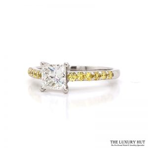 Platinum 1.00ct Princess Cut Diamond Engagement Ring - Order Online Today For Next Day