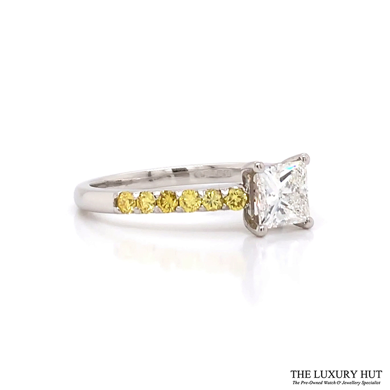 Platinum 1.00ct Princess Cut Diamond Engagement Ring - Order Online Today For Delivery