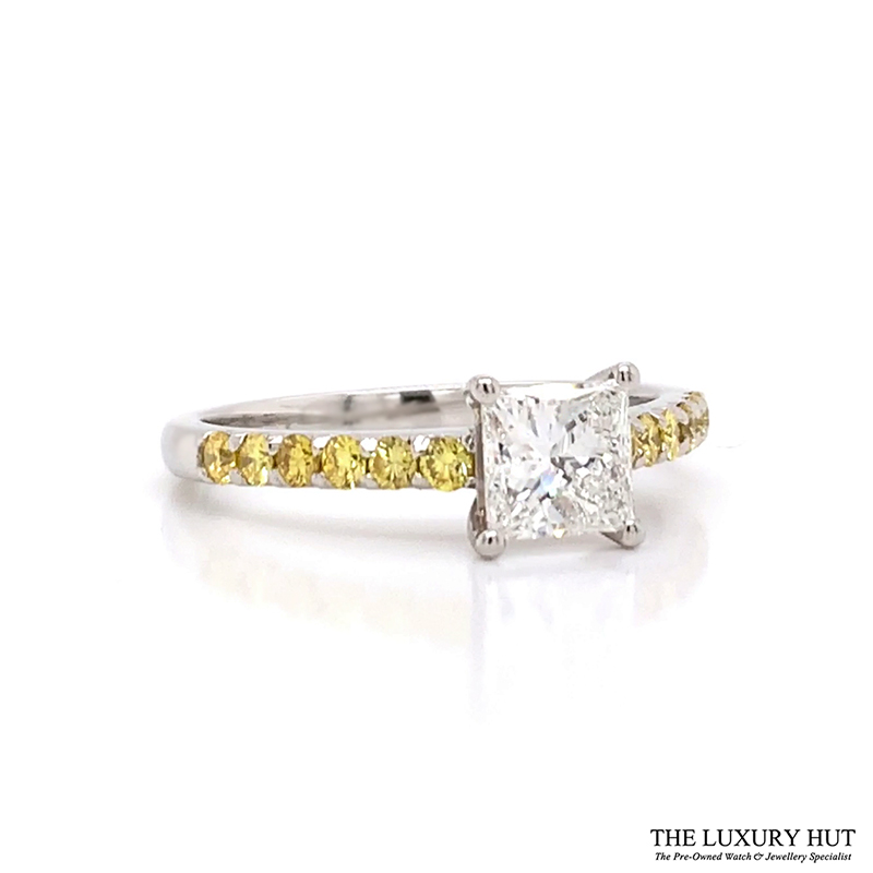Platinum 1.00ct Princess Cut Diamond Engagement Ring - Order Online Today Delivery