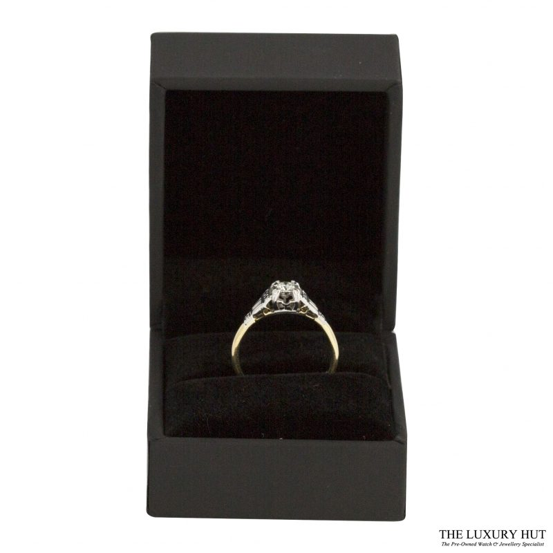 18ct Yellow Gold & Platinum 0.15ct Diamond Solitaire Ring - Order
