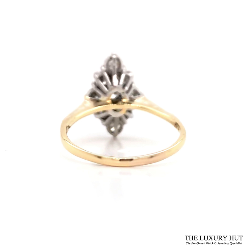 18ct Yellow Gold & Platinum Vintage 1.00ct Diamond Ring -