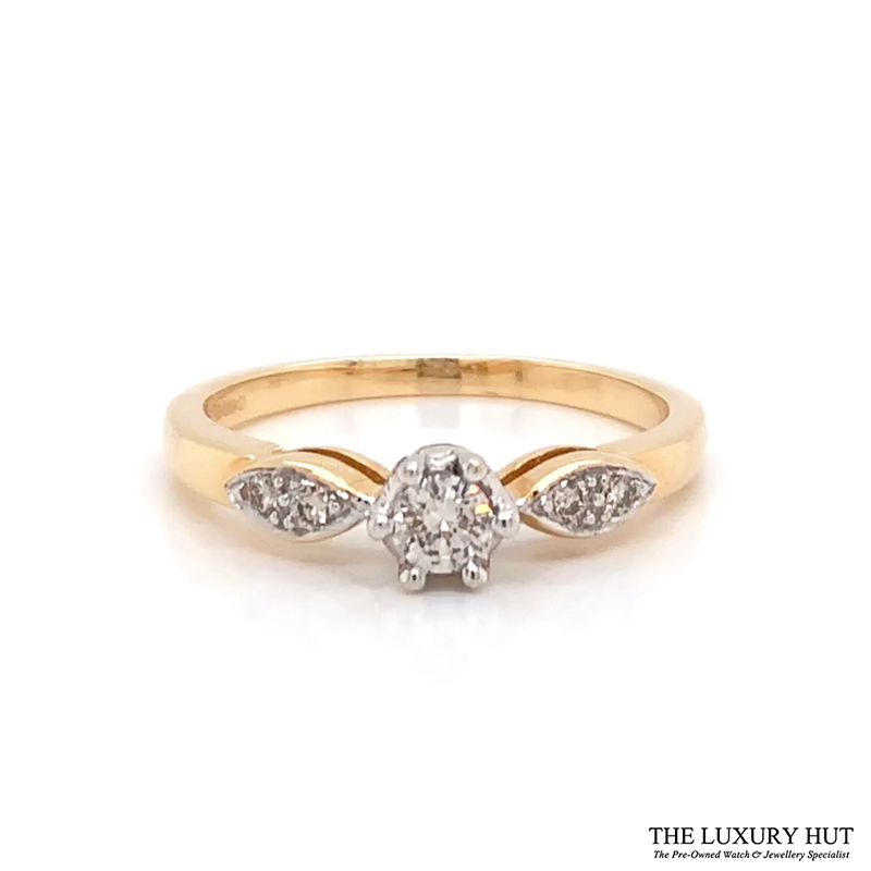Shop 18ct White Gold 0.20ct Diamond Engagement Ring - Order Online Today For Next Day Delivery