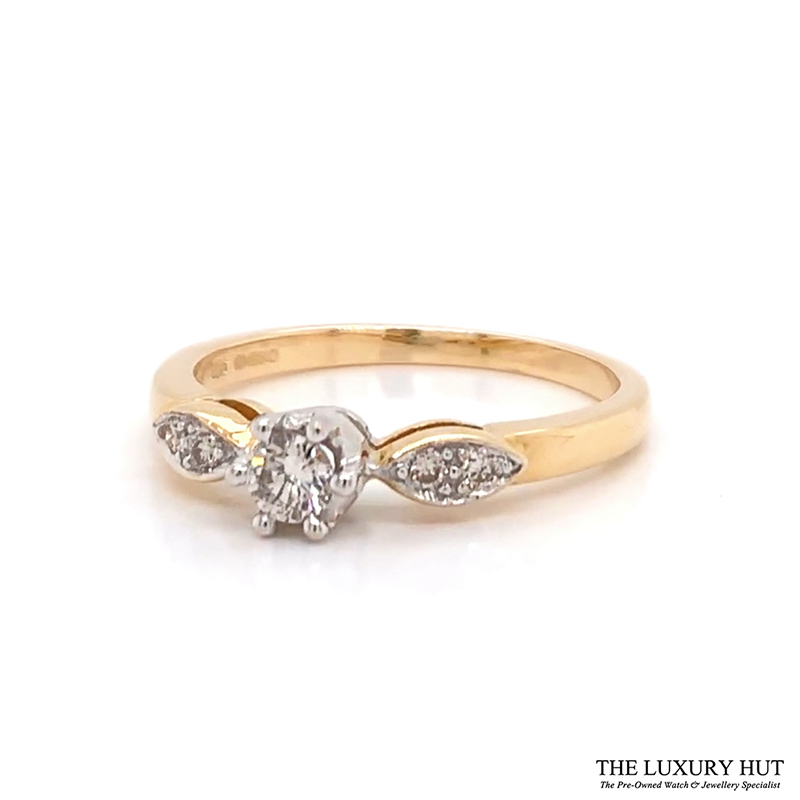 Shop 18ct White Gold 0.20ct Diamond Engagement Ring - Order Online Today For Next Day