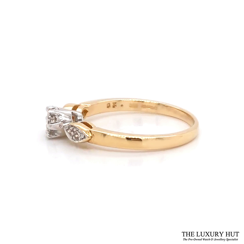 Shop 18ct White Gold 0.20ct Diamond Engagement Ring - Order Online