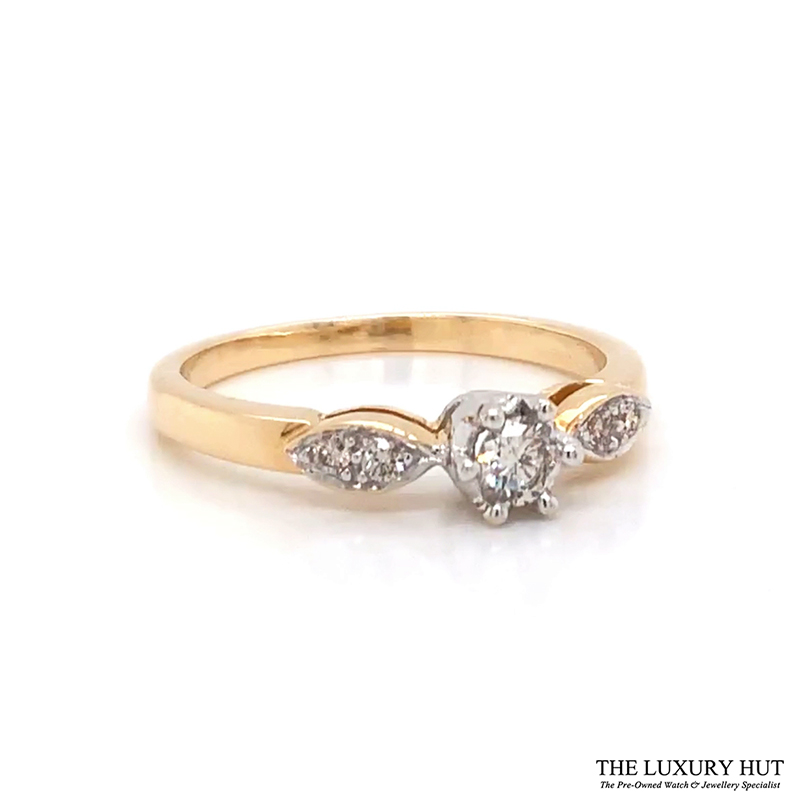 Shop 18ct White Gold 0.20ct Diamond Engagement Ring - Order Online Today Delivery