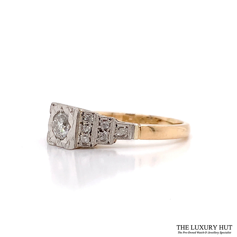 18ct Yellow Gold & Platinum 0.75ct Diamond Engagement Ring - Order Online Today For Next Day