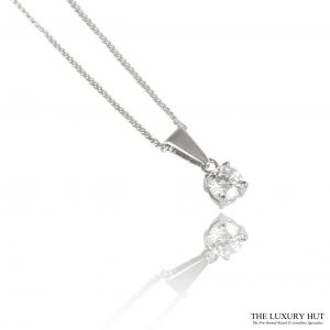 Shop 18ct White Gold 0.30ct Diamond Pendant - Order Online Today For Next Day