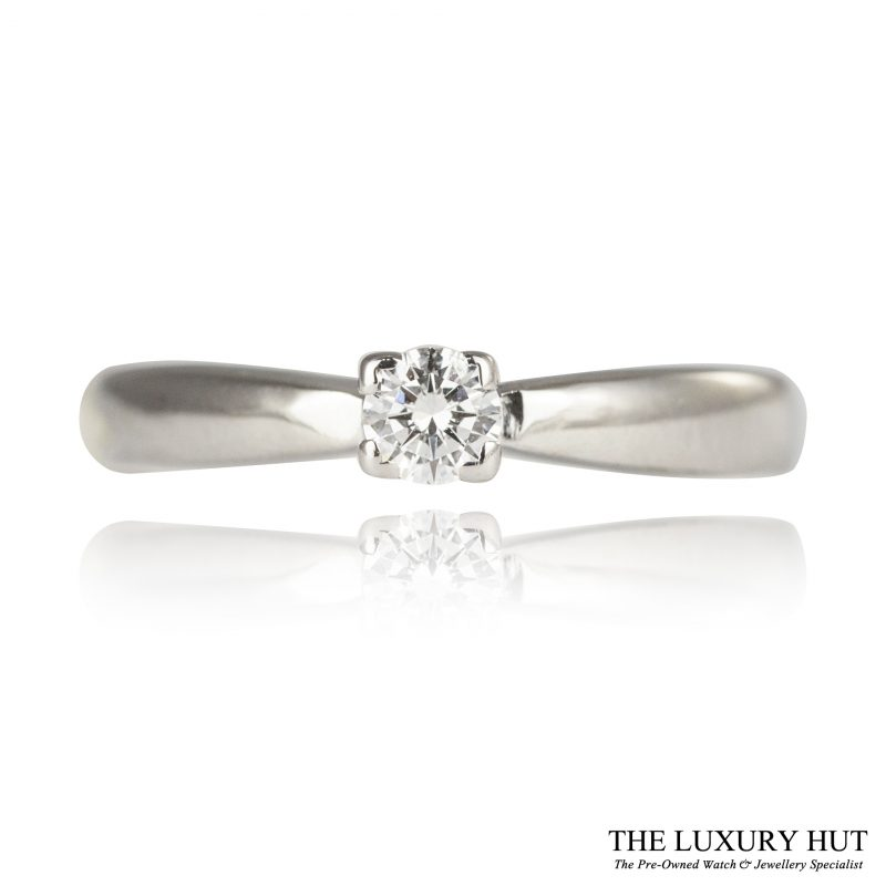 Shop 18ct White Gold 0.15ct Diamond Engagement Ring - Order Online Today For Next Day Delivery