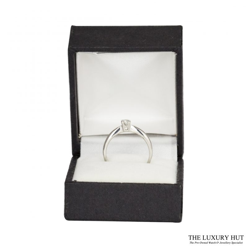 Shop 18ct White Gold 0.15ct Diamond Engagement Ring - Order Online Today
