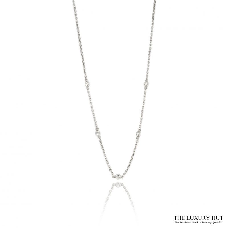 Shop 18ct White Gold 0.15ct 5 diamond Linked Necklet - Order Online Today For Next Day Delivery