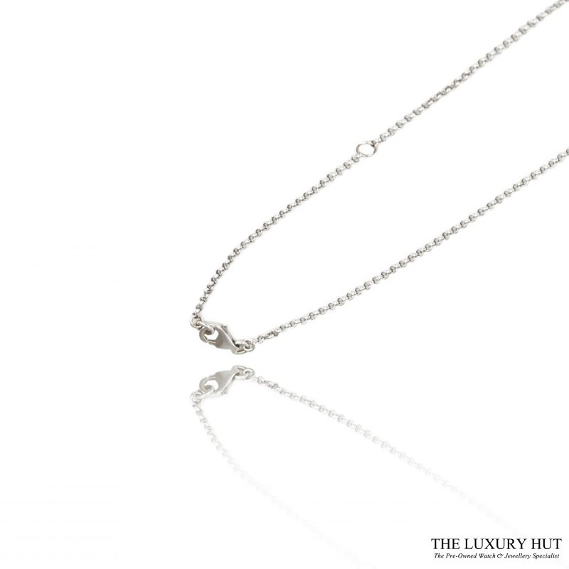 Shop 18ct White Gold 0.15ct 5 diamond Linked Necklet - Order Online Today