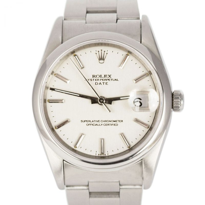 Shop Rolex Steel Oyster Perpetual Date Watch Ref 15200