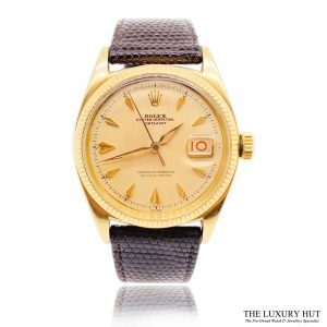 Rolex Vintage Gold Oyster Perpetual Datejust Watch Ref 6605 Order Online Today For Next Day Delivery