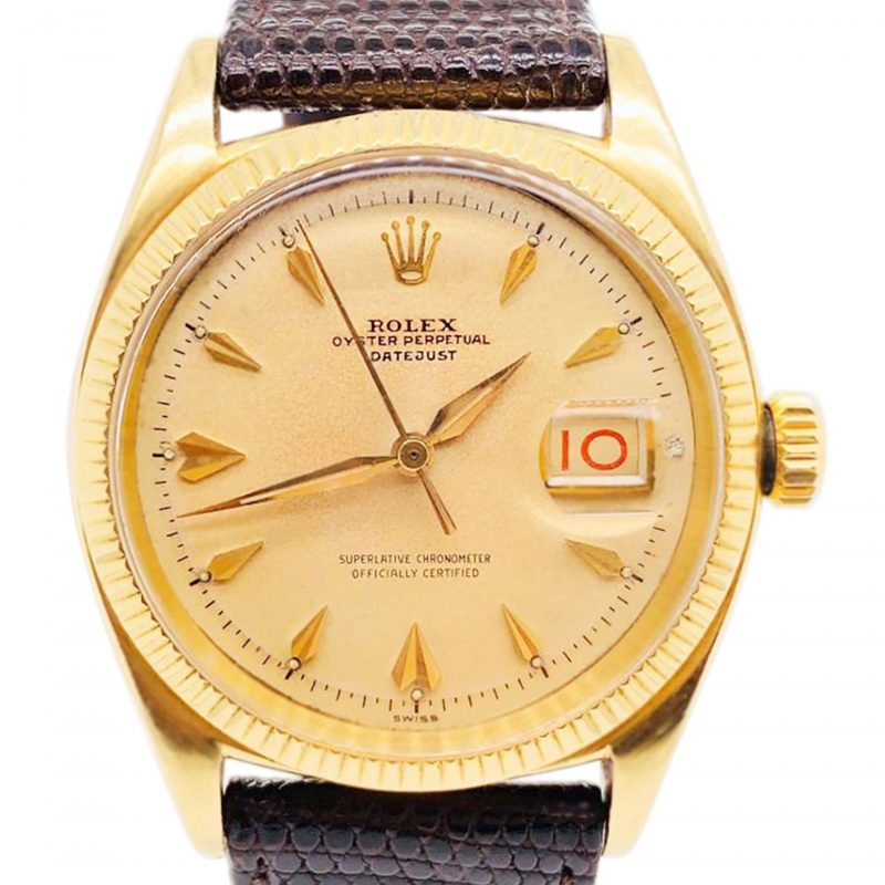 Rolex Vintage Gold Oyster Perpetual Datejust Watch Ref 6605 Order