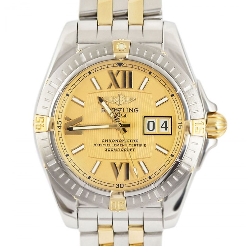 Breitling Cockpit Steel & Gold Chronometer Watch Ref B49350