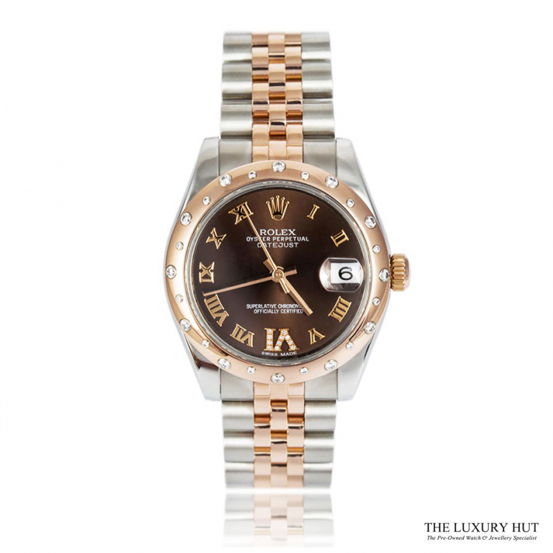 Rolex Lady DateJust Bi-Metal 178341 Diamond Set 31 mm 2013 - Order Online Today For Next Day Delivery - Sell Your Rolex Watch To The Luxury Hut London