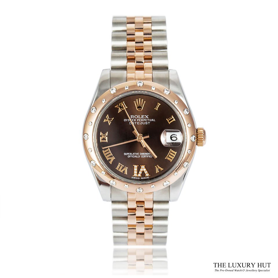 ROLEX BI-METAL LADY EVEROSE DATEJUST REF 178341 &#...
