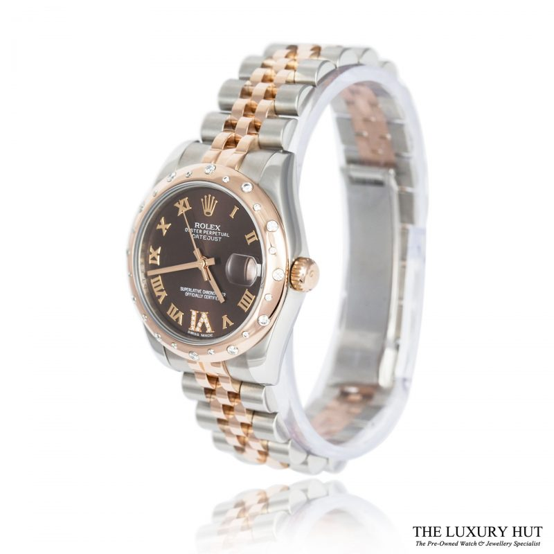 Rolex Lady DateJust Bi-Metal 178341 Diamond Set 31 mm 2013 - Order Online Today For Next Day Delivery - Sell Your Rolex Watch To The Luxury Hut