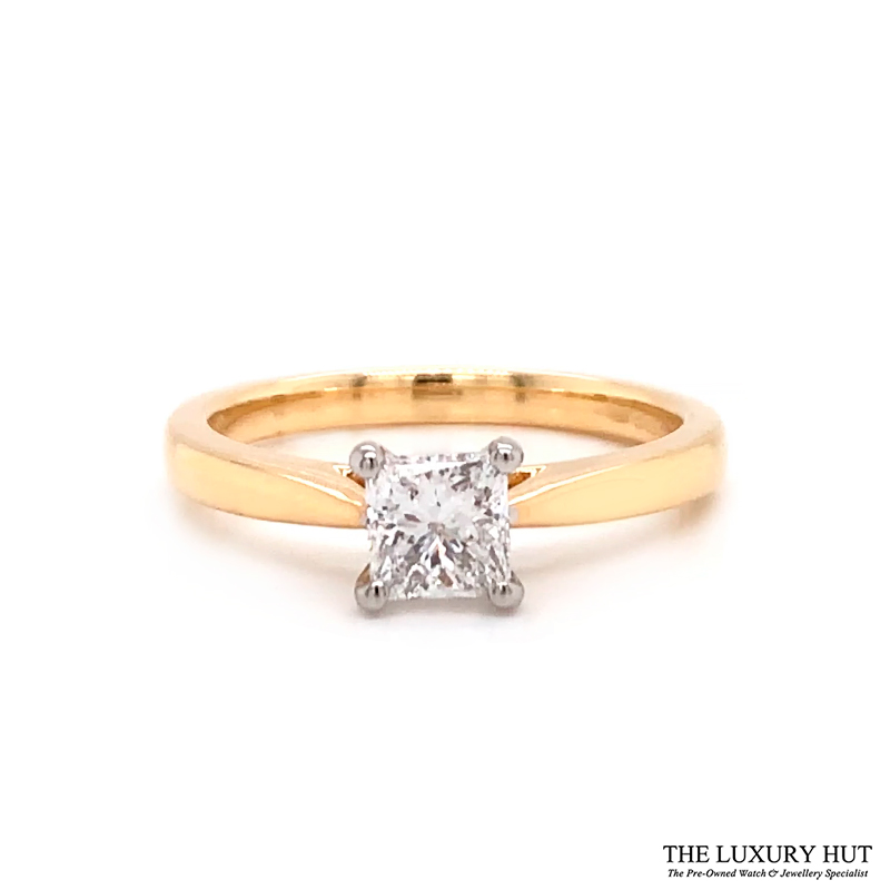 18ct Gold Certified 0.56ct Princess Cut Solitaire Engagement Ring Order Online Today For Next Day Delivery - Sell Your Diamond Ring To The Luxury Hut London