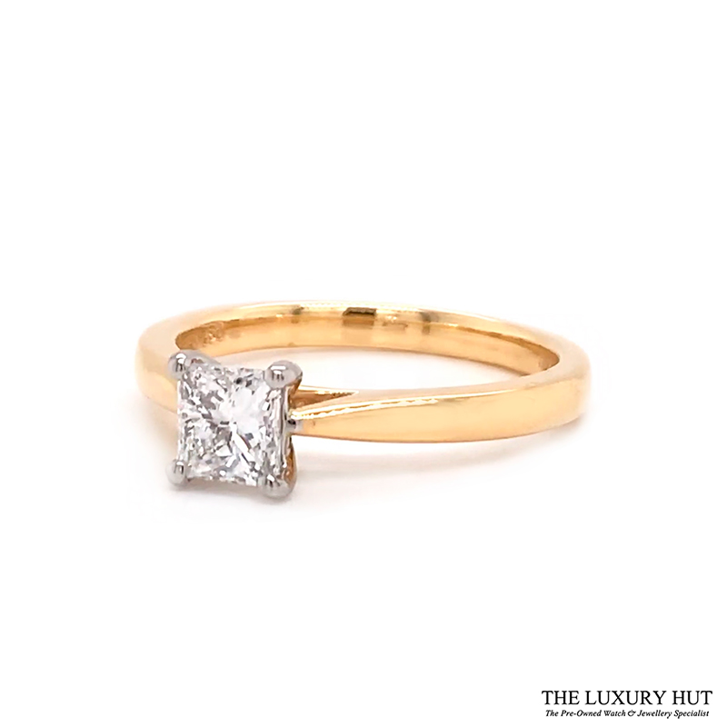 18ct Gold Certified 0.56ct Princess Cut Solitaire Engagement Ring Order Online Today For Next Day Delivery - Sell Your Diamond Ring To The Luxury Hut
