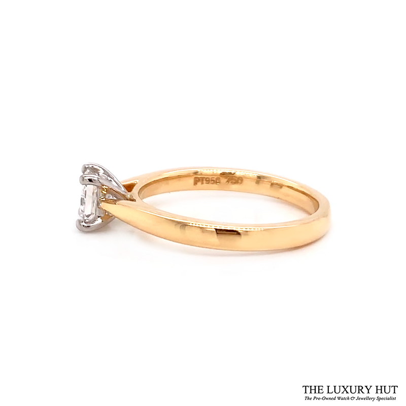 18ct Gold Certified 0.56ct Princess Cut Solitaire Engagement Ring Order Online Today For Next Day Delivery - Sell