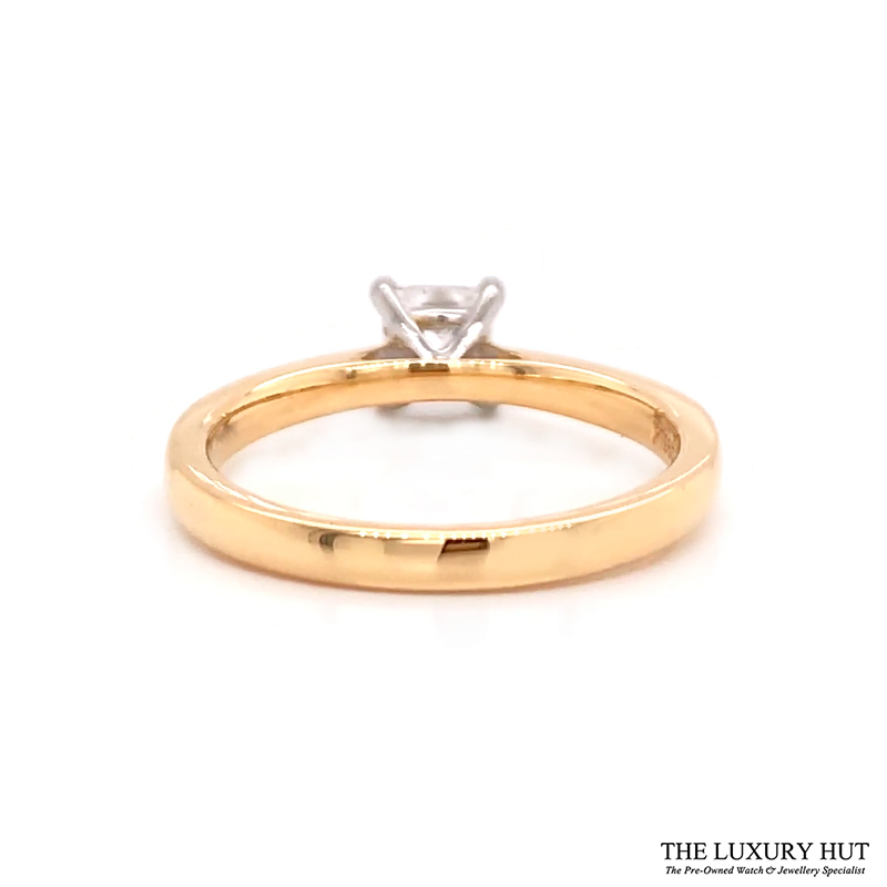 18ct Gold Certified 0.56ct Princess Cut Solitaire Engagement Ring Order Online Today