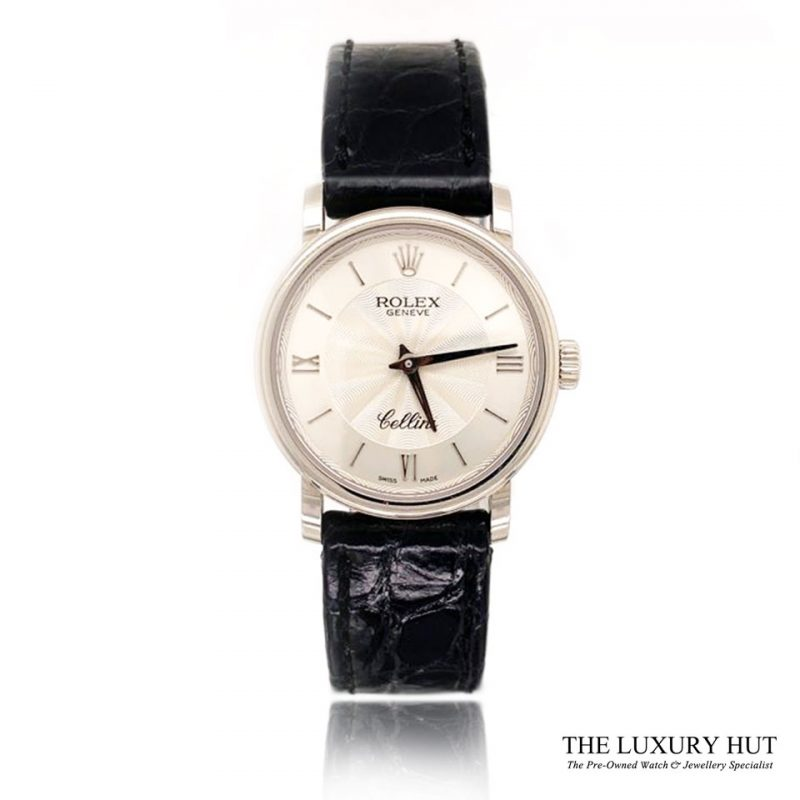 Rolex Cellini 18ct White Gold 2013 Full Set Ref 6110/9 Order Online Today For Next Day Delivery - Sell Your Rolex Watch To The Luxury Hut London