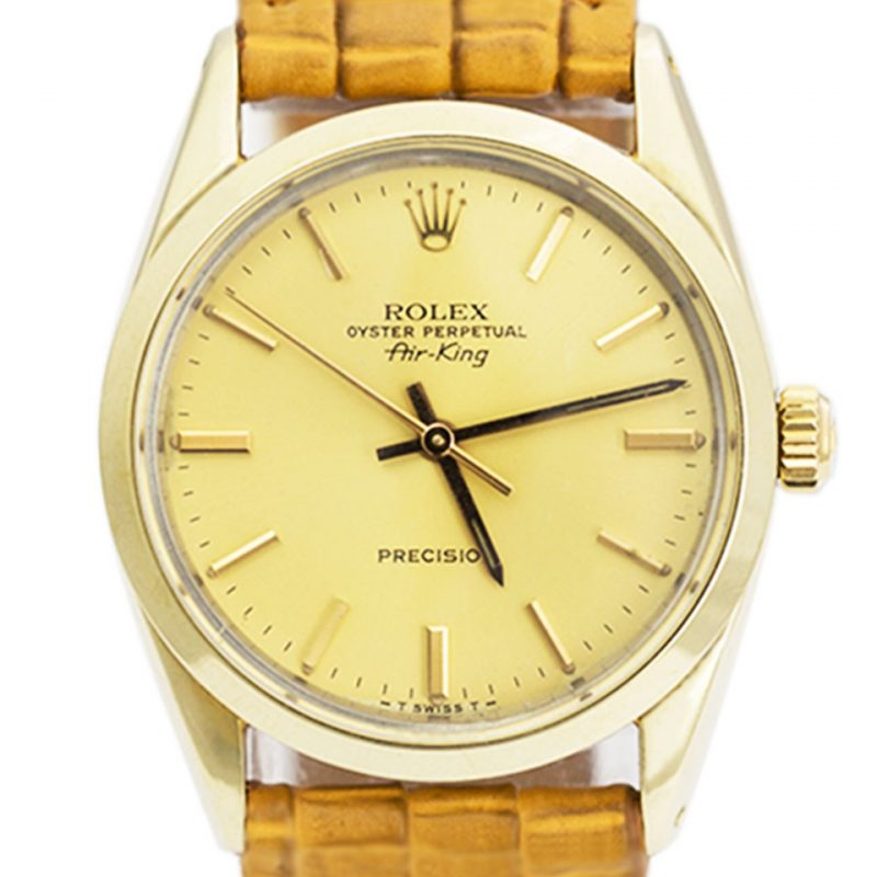 Rolex Steel Gold Capped Air King Watch Full Set - Ref 5520