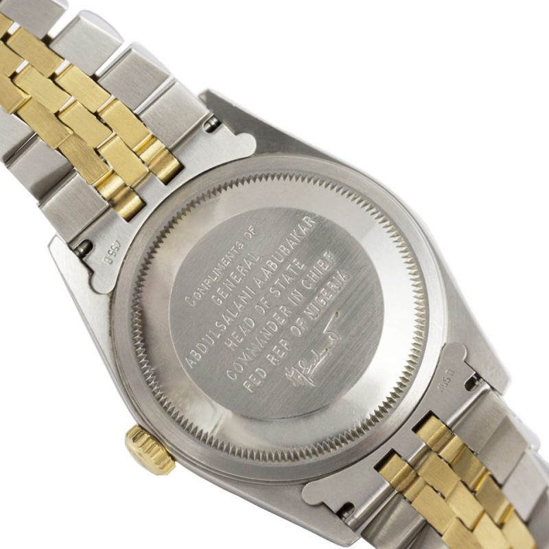Rolex Nigeria Head Of State Datejust Oyster Perpetual Date 16233- Order Online