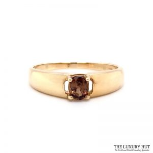 9ct Yellow Gold Tourmaline Solitaire Dress Ring Ref 24141 Order Online Today For Next Day Delivery - Sell Your Gold Ring To The Luxury Hut London