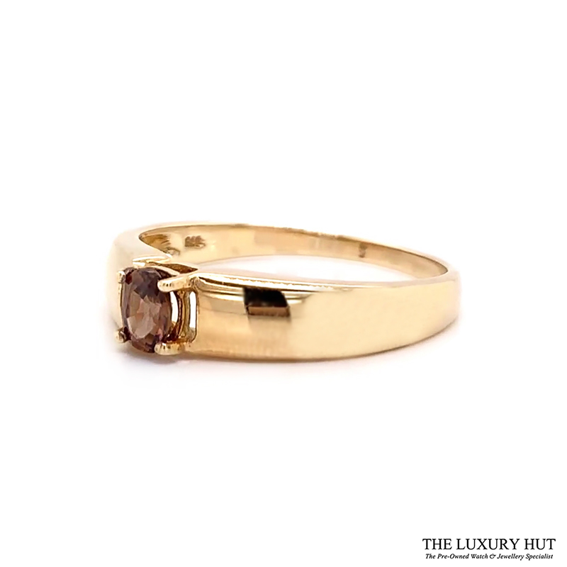 9ct Yellow Gold Tourmaline Solitaire Dress Ring Ref 24141 Order Online Today For Next Day Delivery - Sell Your Gold Ring To The Luxury Hut