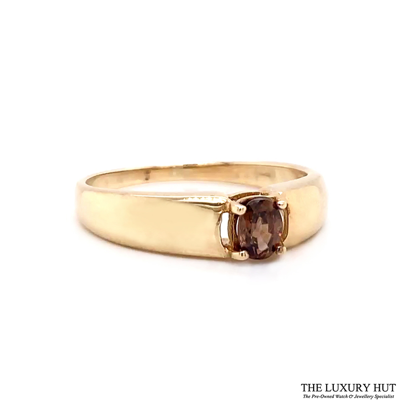 9ct Yellow Gold Tourmaline Solitaire Dress Ring Ref 24141 Order Today