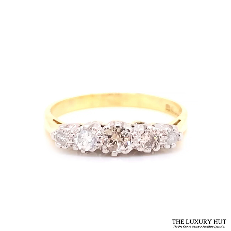 18ct White & Yellow Gold 0.32ct Diamond Engagement Ring Order Online Today For Next Day Delivery - Sell Your Diamond Ring To The Luxury Hut London