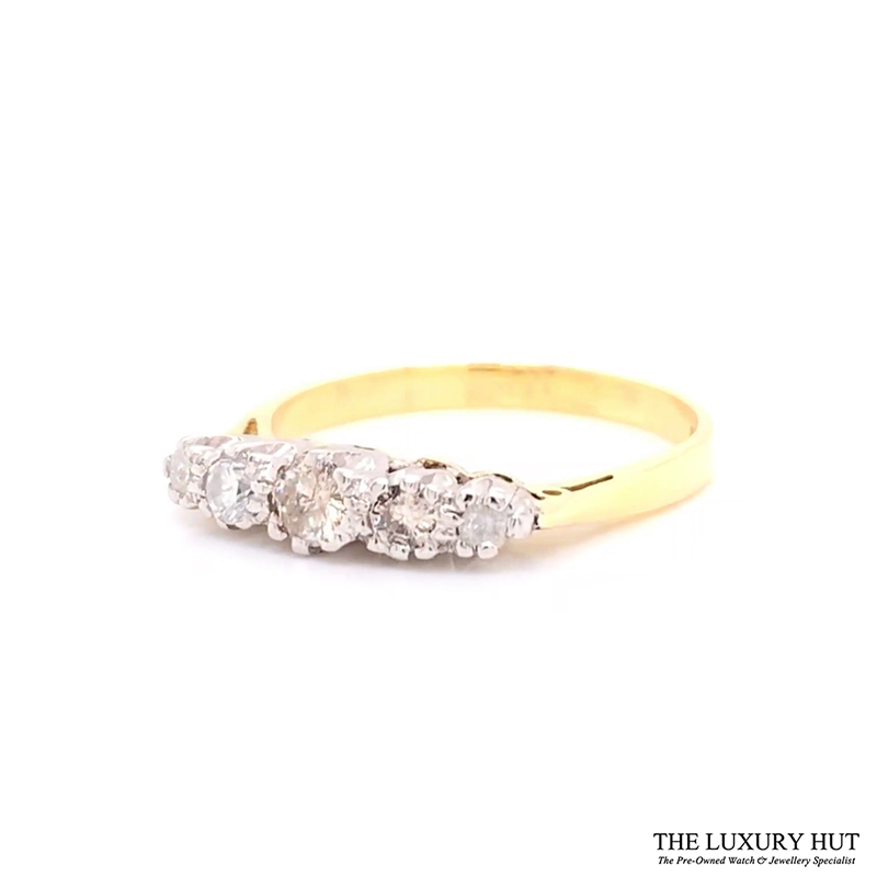 18ct White & Yellow Gold 0.32ct Diamond Engagement Ring Order Online Today For Next Day Delivery - Sell Your Diamond Ring To The Luxury Hut