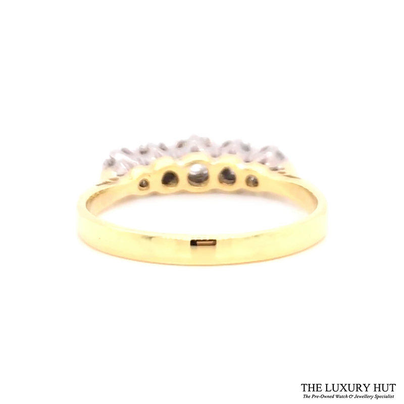 18ct White & Yellow Gold 0.32ct Diamond Engagement Ring Order Online Today