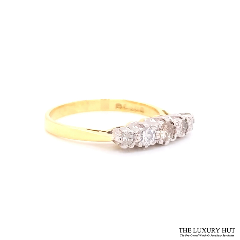 18ct White & Yellow Gold 0.32ct Diamond Engagement Ring Order Online