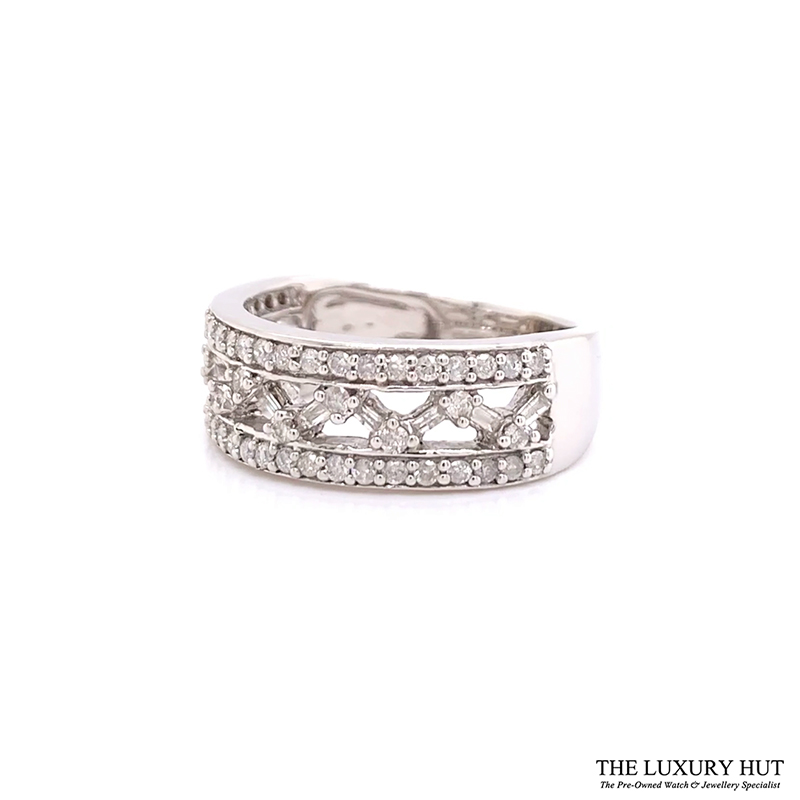 9ct White Gold Certified 1.30ct Diamond Band Ring Ref 24189 Order Online Today For Next Day Delivery - Sell Your Diamond Ring To The Luxury Hut