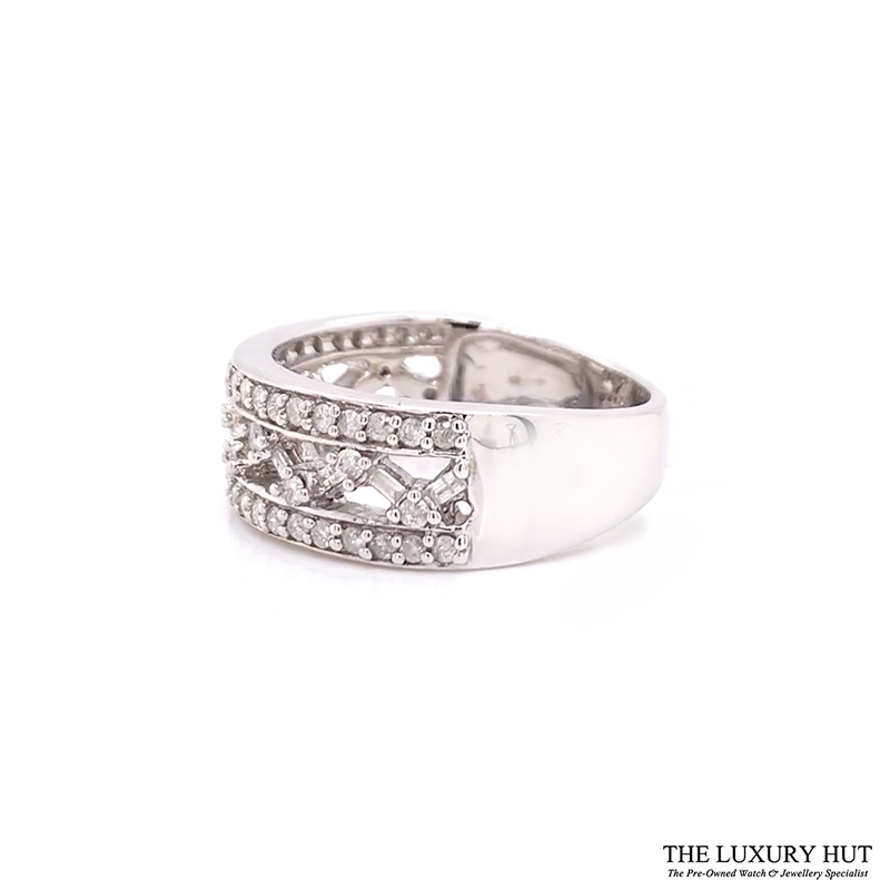 9ct White Gold Certified 1.30ct Diamond Band Ring Ref 24189 Order Online Today For Next Day Delivery - Sell
