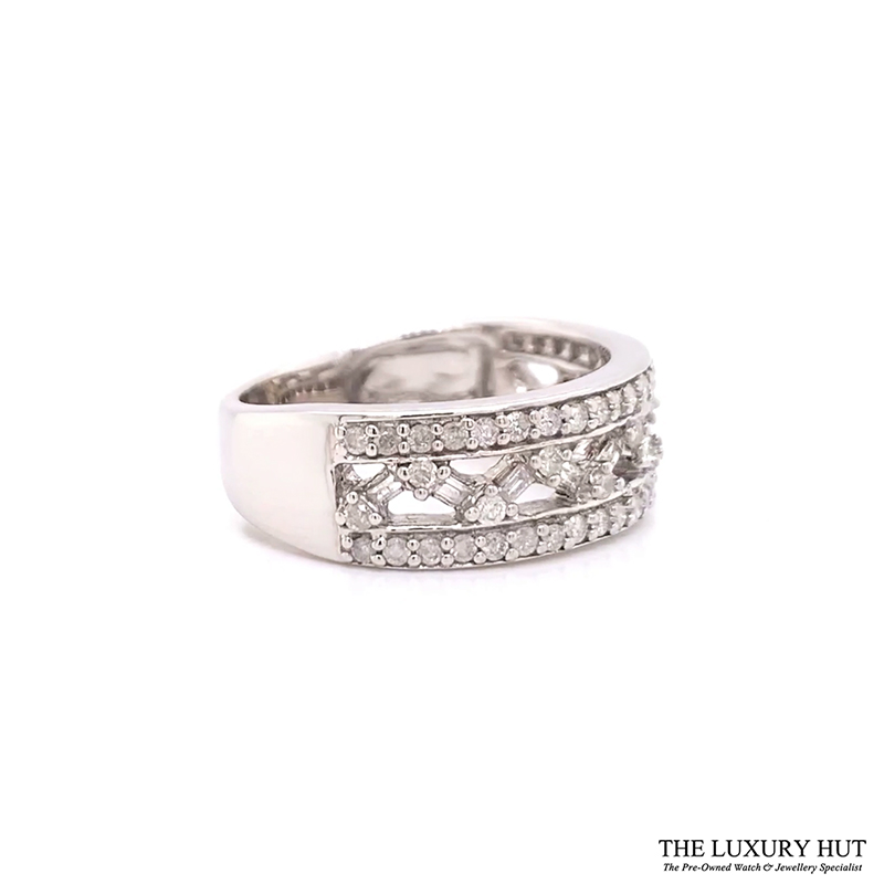 9ct White Gold Certified 1.30ct Diamond Band Ring Ref 24189 Order Online