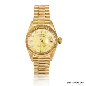 Rolex Ladies Rare Gold DateJust 1981 Watch Ref 6917 Order Online Today For Next Day Delivery - Sell Your Rolex Watch To The Luxury Hut London