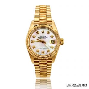 Rolex Ladies Vintage Gold Oyster Perpetual DateJust 1977 Watch Order Online Today For Next Day Delivery