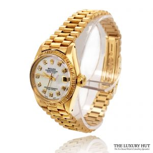 Rolex Ladies Vintage Gold Oyster Perpetual DateJust 1977 Watch Order Online Today For Next Day Delivery - Sell Your Rolex Watch To The Luxury Hut