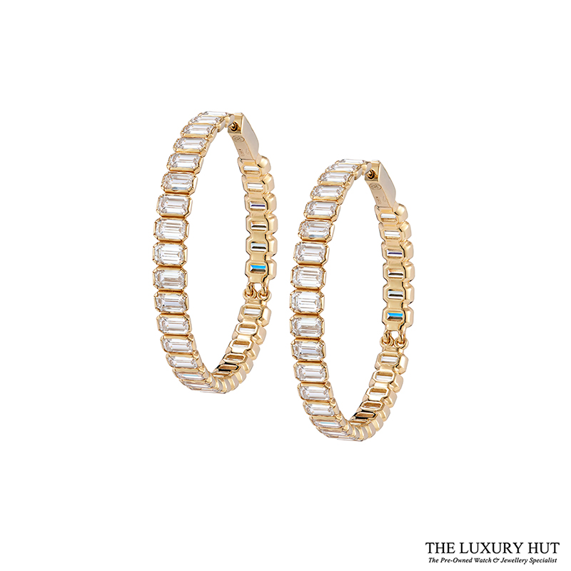 Soul Sia 14ct Yellow Gold Chocolate Zirconia Hoop Earrings Ref 24370 Order Online Today For Next Day Delivery - Sell Your Earrings To The Luxury Hut London