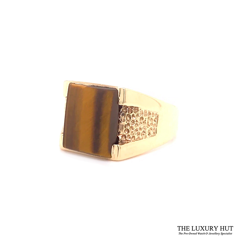 9ct Yellow Gold Tigers Eye Stone Signet Ring Ref 24417 Order Online Today For Next Day Delivery - Sell Your Signet Ring To The Luxury Hut
