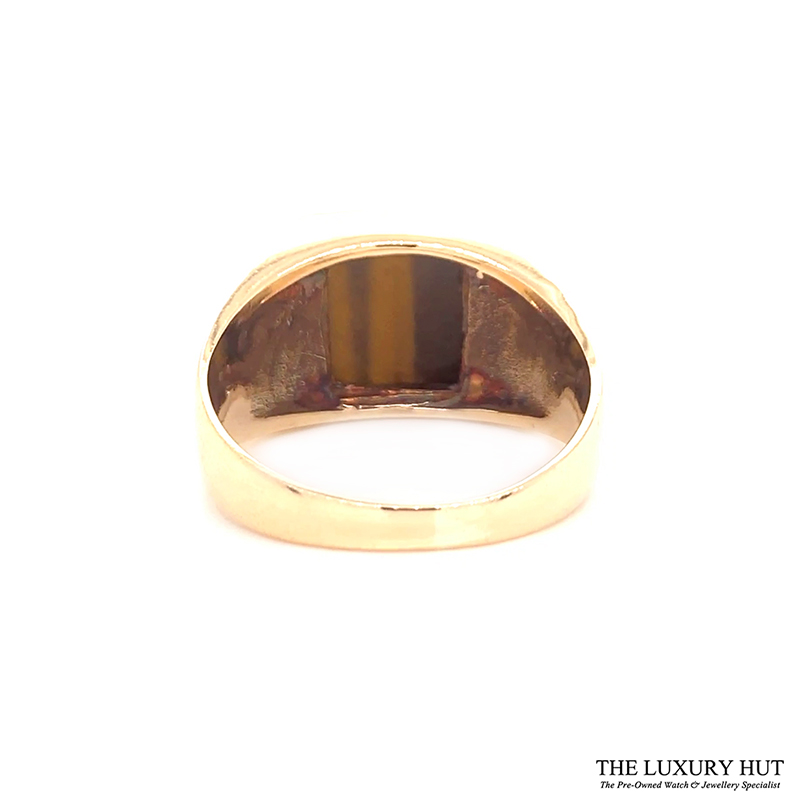 9ct Yellow Gold Tigers Eye Stone Signet Ring Ref 24417 Order Online Today For Next Day Delivery