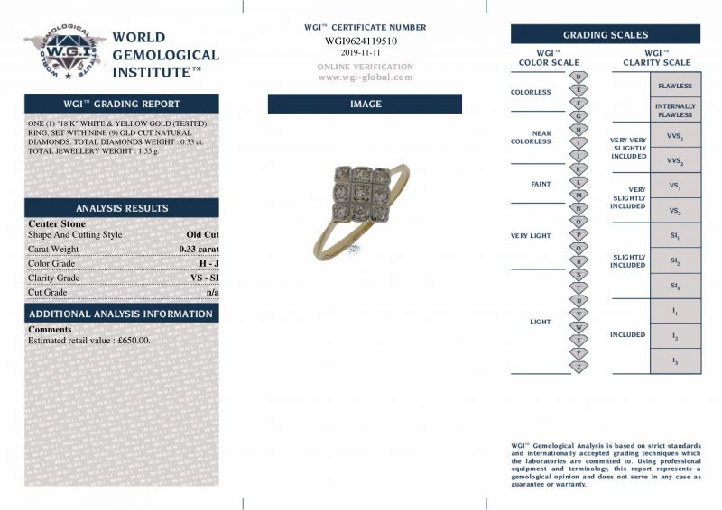18ct Gold Certified 0.33ct Diamond