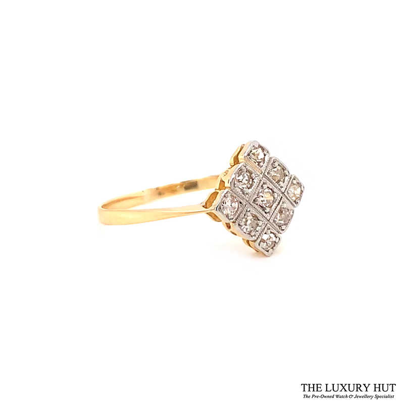 18ct Gold Certified 0.33ct Diamond Ring