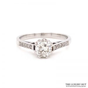 Platinum 0.60ct Brilliant Cut Solitaire Diamond Engagement Ring