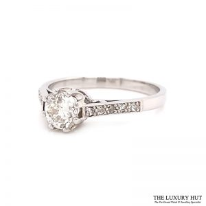 Platinum 0.60ct Brilliant Cut Solitaire Diamond Engagement Ring Order Online Today